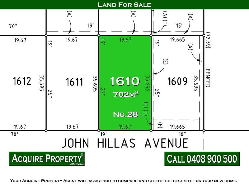 No.28 (Lot 1610) John Hillas Avenue, Kellyville, NSW 2155
