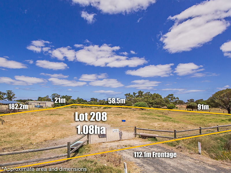 Lot 208 Zaruma Way, West Pinjarra, WA 6208