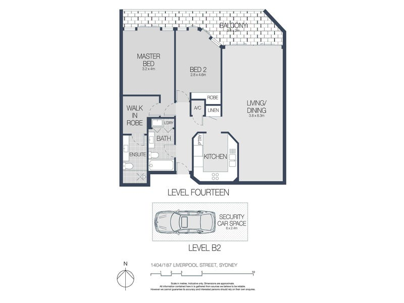1404/187 Liverpool Street, Sydney, NSW 2000 - floorplan