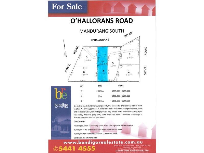 Lot 4 O'Hallorans Road, Mandurang South, Vic 3551