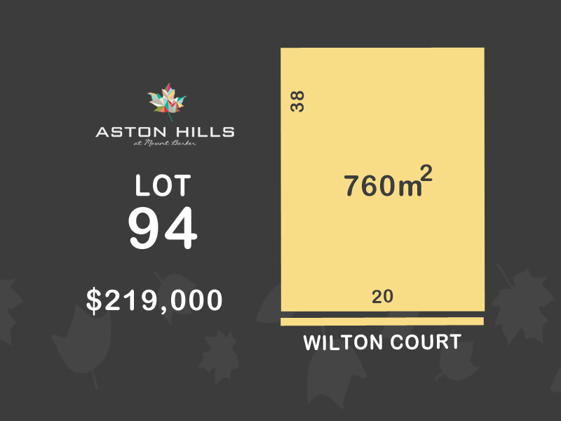 Lot 94, Wilton Court (Aston Hills), Mount Barker, SA 5251