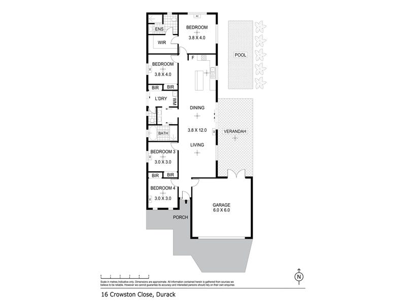 16 Crowson Close, Durack, NT 0830 - floorplan
