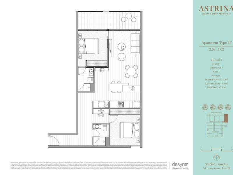 202/5-7 Irving Avenue, Box Hill, Vic 3128 - floorplan