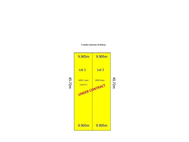Lot 2 4 Styles Avenue, St Marys, SA 5042
