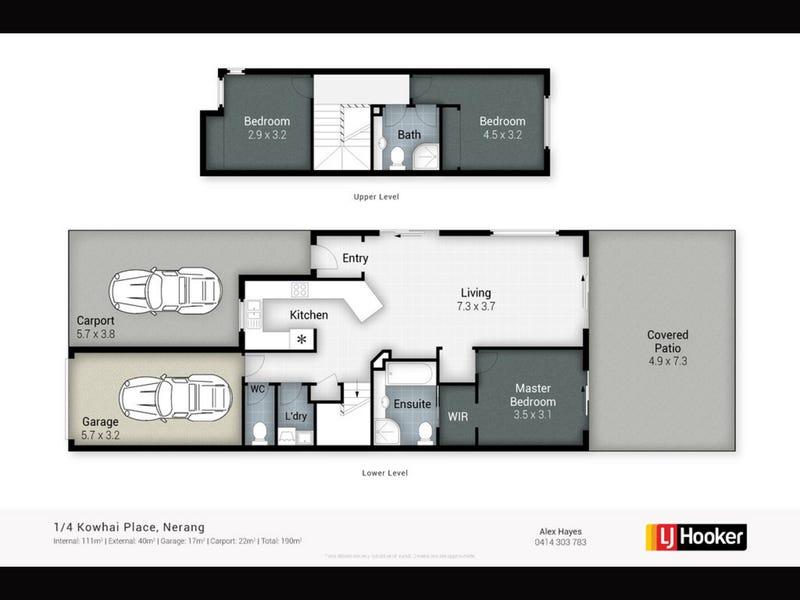 1/4 Kowhai Place, Nerang, Qld 4211 - floorplan