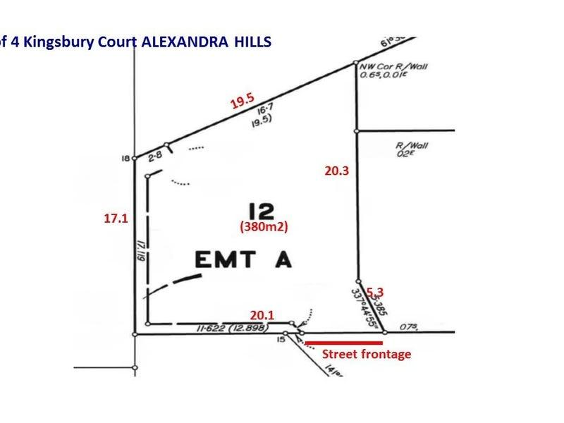 Lot 12, 4 Kingsbury Court, Alexandra Hills, Qld 4161