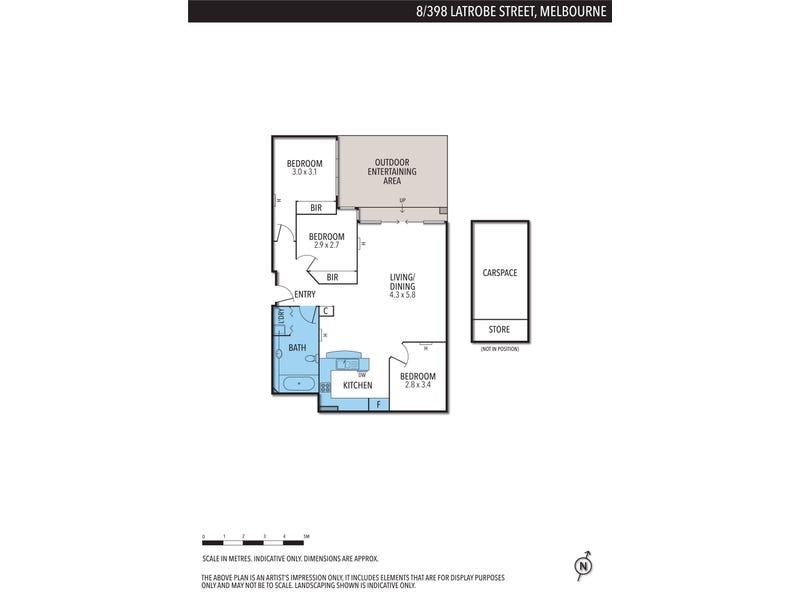 8/398 Latrobe Street, Melbourne, Vic 3000 - floorplan