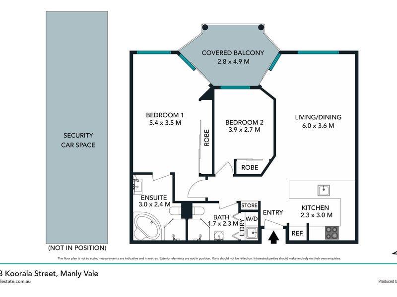 132/8 Koorala Street, Manly Vale, NSW 2093 - floorplan