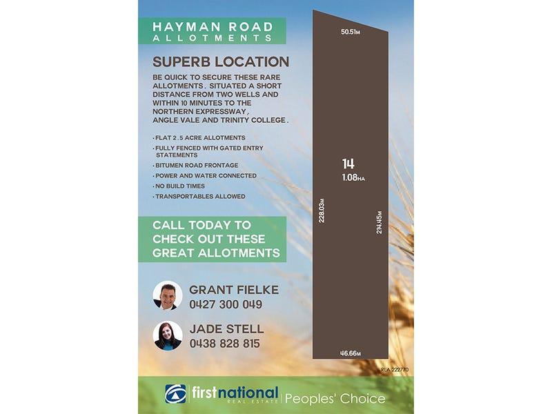 Lot 14 Hayman Road, Lewiston, SA 5501