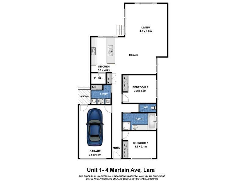 Unit 1 & 2 /4 Martain Avenue, Lara, Vic 3212