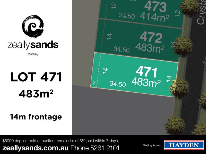 Lot 471 Zeally Sands  Estate, Torquay, Vic 3228