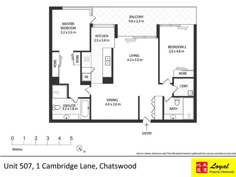507/1 Cambridge Lane, Chatswood, NSW 2067 - floorplan