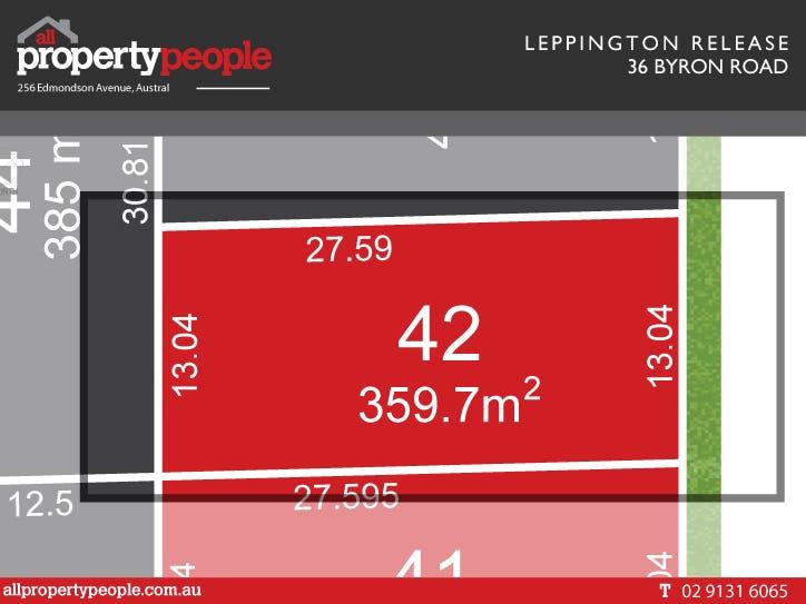Lot 42, 36 Byron Road, Leppington, NSW 2179