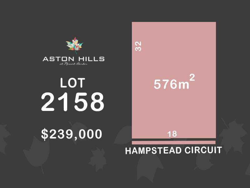 Lot 2158, 18 Hampstead Circuit (Aston Hills), Mount Barker, SA 5251