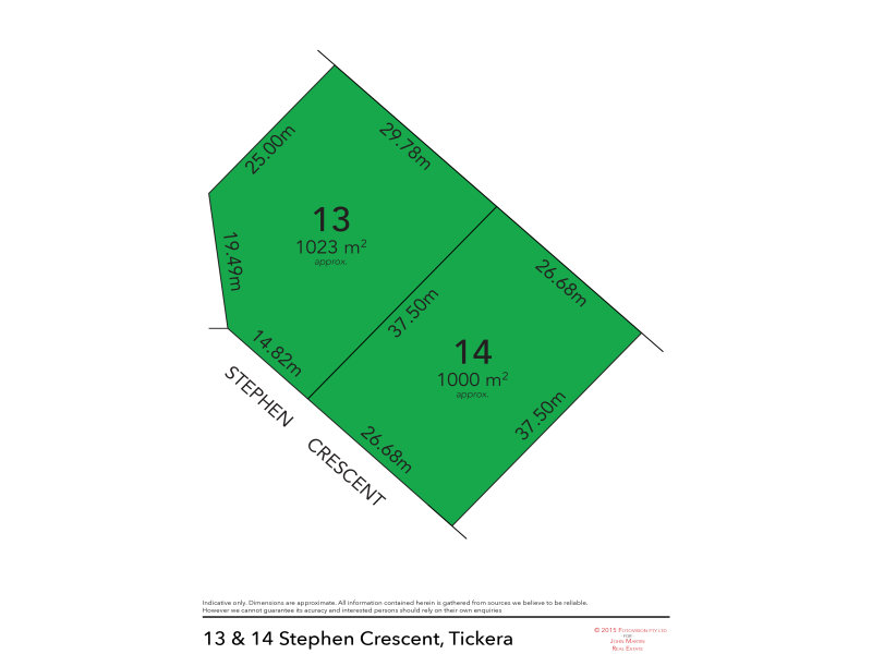 Lot 13 & 14, Stephen Crescent, Tickera, SA 5555