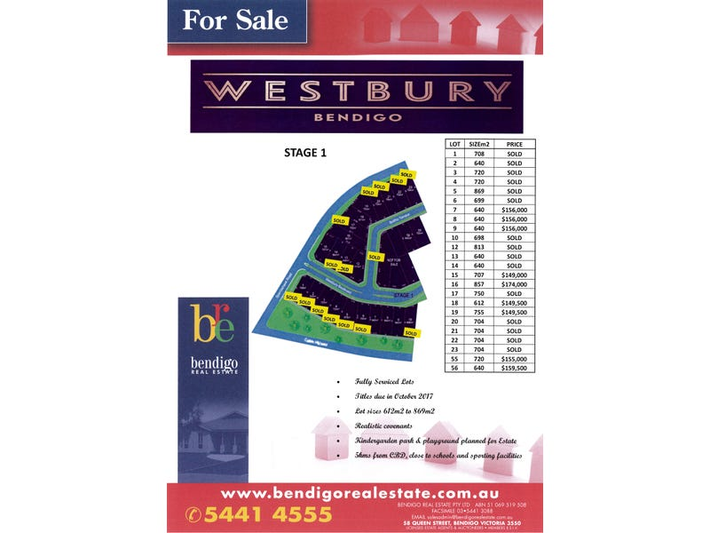 Westbury Estate - Stage 1, Maiden Gully