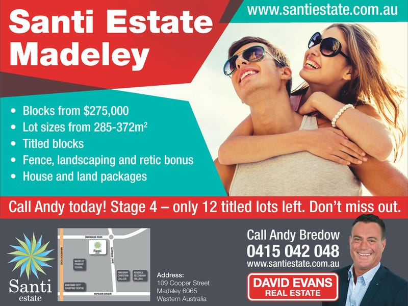 Lot 348 Santi Estate, Madeley, WA 6065