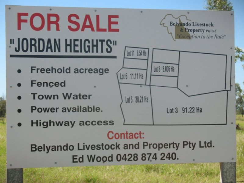 Lot 11, Jordan Heights, Jordan Heights, Jericho, Qld 4728