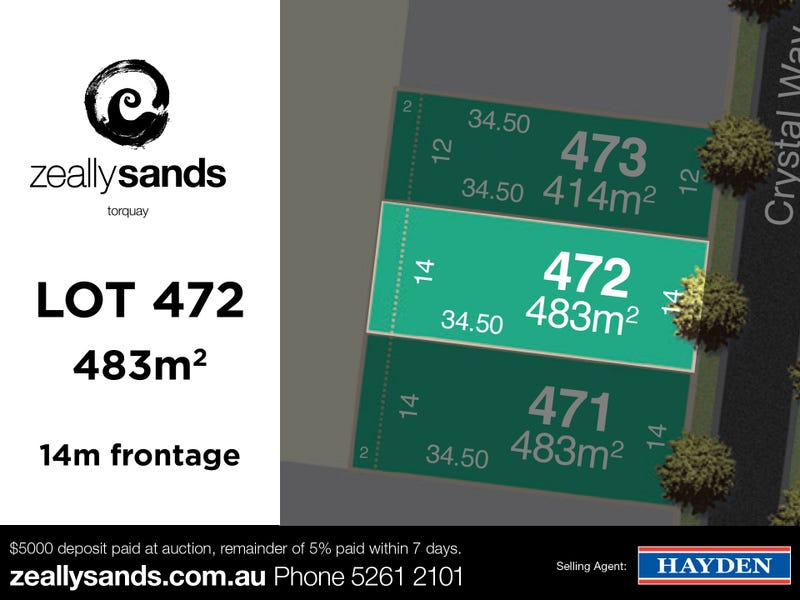 Lot 472 Zeally Sands  Estate, Torquay, Vic 3228