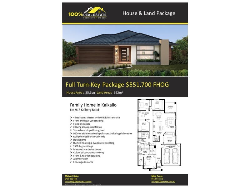 Lot 915, Kelberg Road, Kalkallo, Vic 3064