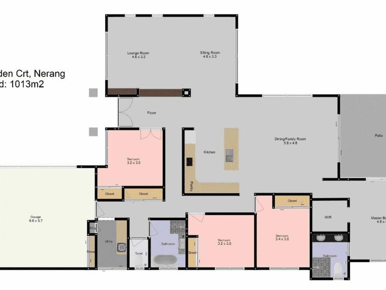 8 Eden Court, Nerang, Qld 4211 - floorplan