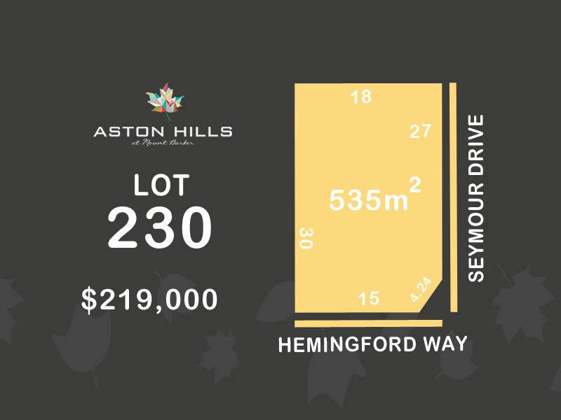 Lot 230, Hemingford Way (Aston Hills), Mount Barker, SA 5251