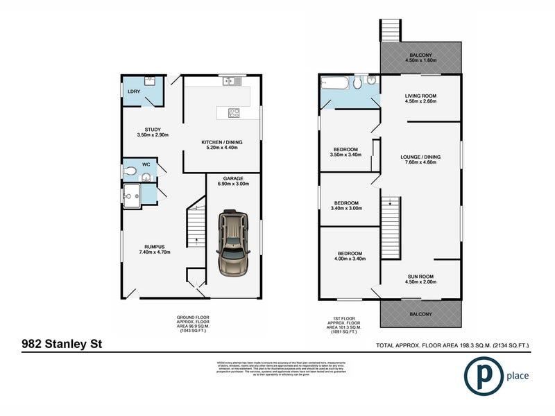982 Stanley Street East, East Brisbane, Qld 4169 - floorplan