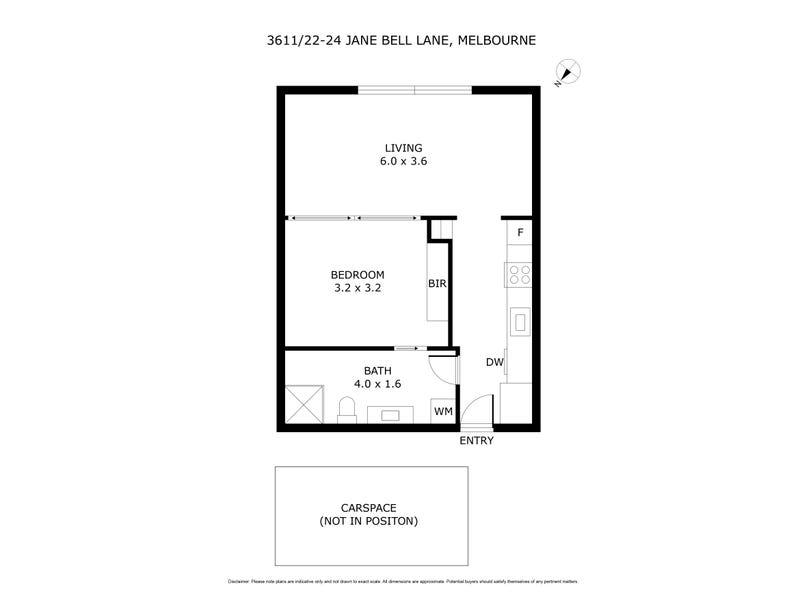 3611/22-24 Jane Bell Lane, Melbourne, Vic 3000 - floorplan