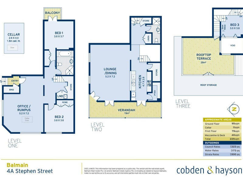 4a Stephen Street, Balmain, NSW 2041 - floorplan