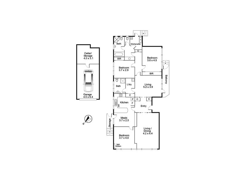1/2 Willsmere Road, Kew, Vic 3101 - floorplan