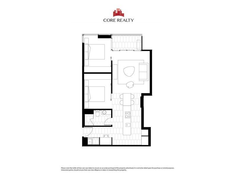 2407/155 Franklin Street, Melbourne, Vic 3000 - floorplan