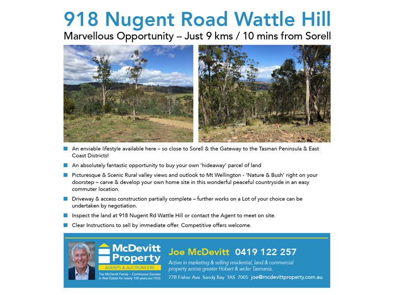 Lot 6, 918 Nugent Road, Wattle Hill