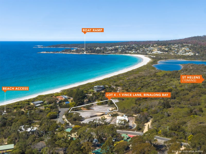 Lot 4, 1 Vince Lane, Binalong Bay, Tas 7216
