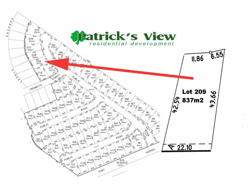 Lot 209, Patricks View, 19 Keen Street, Moonta Bay, SA 5558