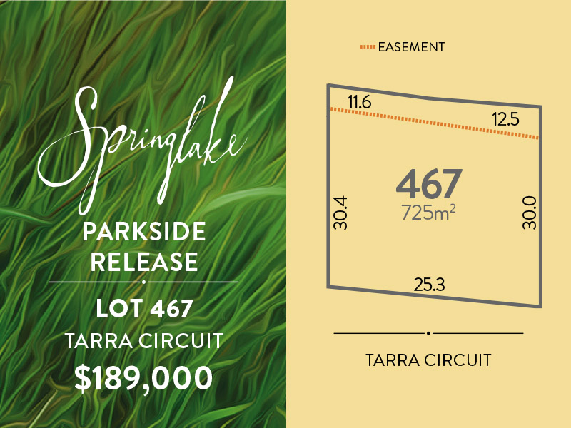 Lot 467, Tarra Circuit, Mount Barker, SA 5251