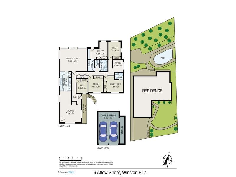 6 Attow Street, Winston Hills, NSW 2153 - floorplan