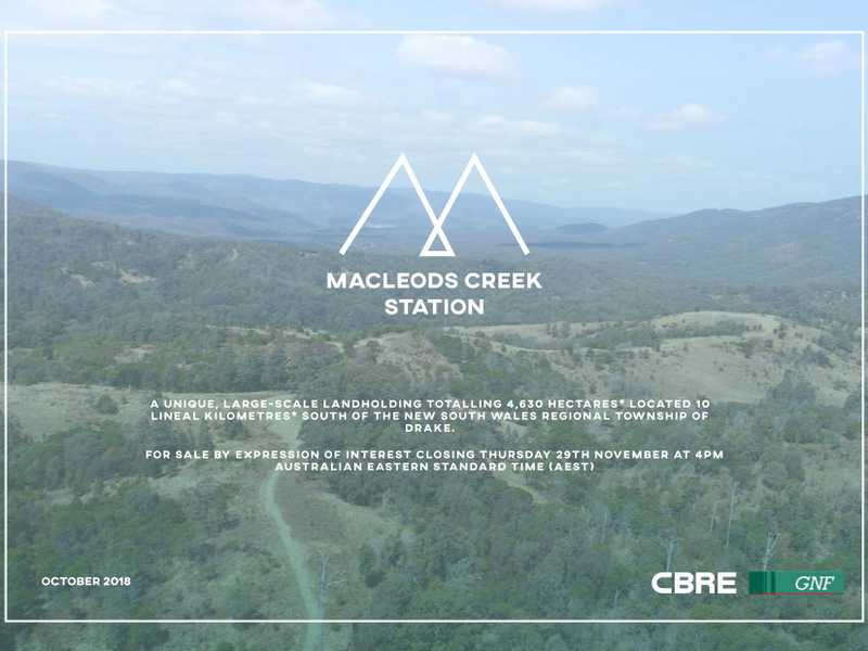 MACLEODS CREEK STATION, Drake, NSW 2469