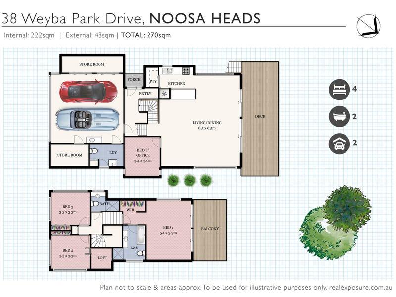 38 Weyba Park Drive, Noosa Heads, Qld 4567 - floorplan