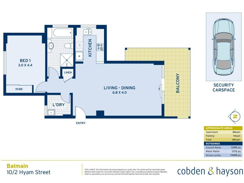 10/2 Hyam Street, Balmain, NSW 2041 - floorplan