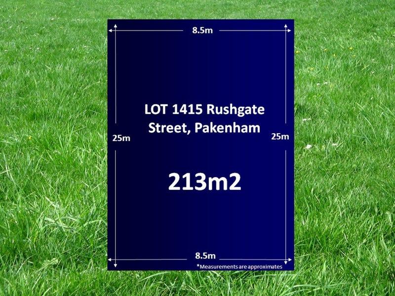 Lot 1415, Rushgate Street, Pakenham, Vic 3810
