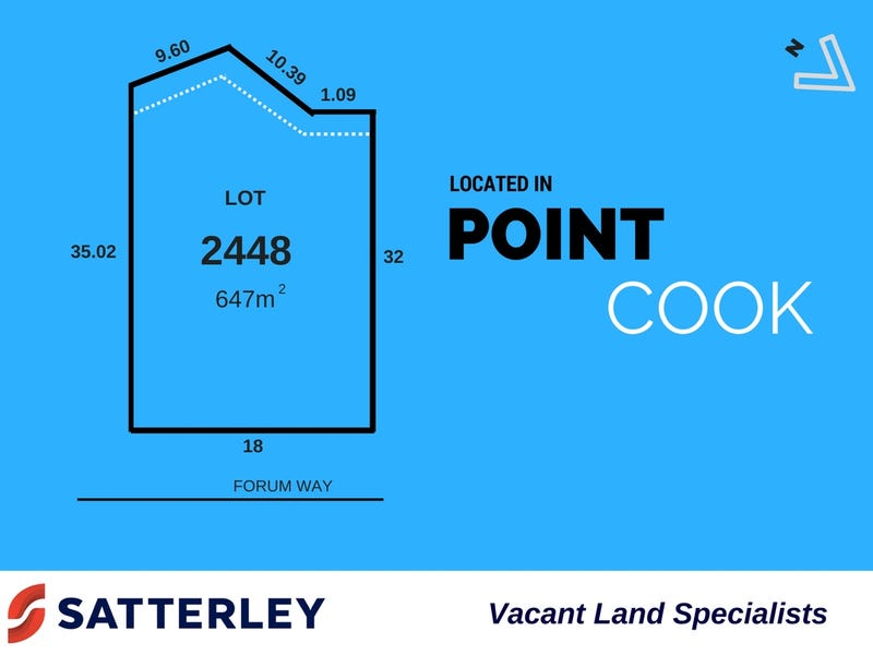 Lot 2448, Forum Way, Point Cook, Vic 3030