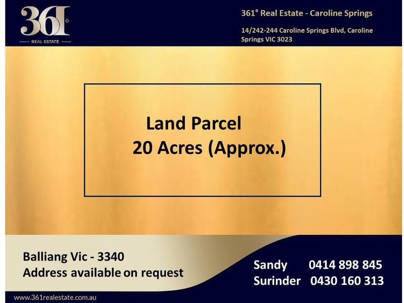 Address available on request, Balliang, Vic 3340