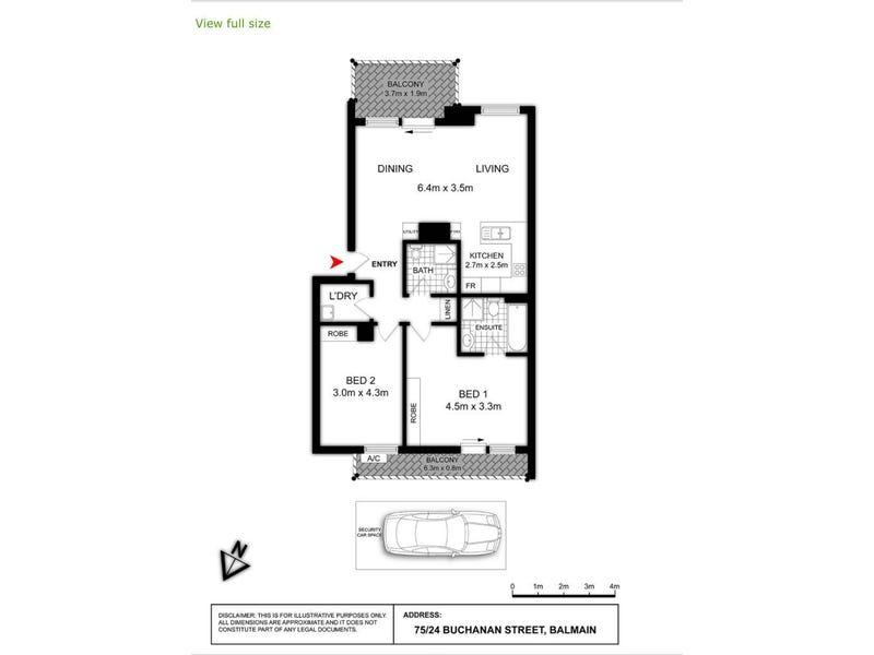 75/24 Buchanan Street, Balmain, NSW 2041 - floorplan