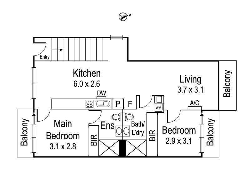 201/264 Waterdale Road, Ivanhoe, Vic 3079 - floorplan
