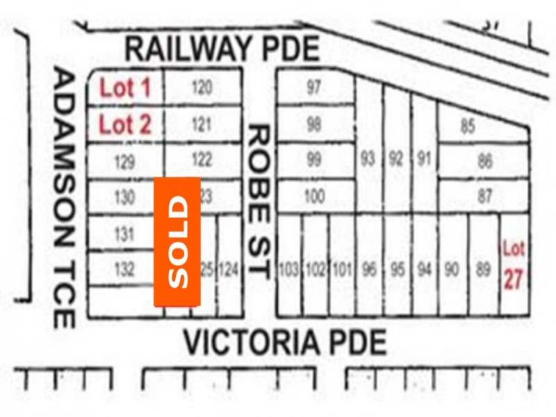 Lots 1 & 2 Adamson Terrace & Lot 27 Victoria Parade, Bordertown, SA 5268