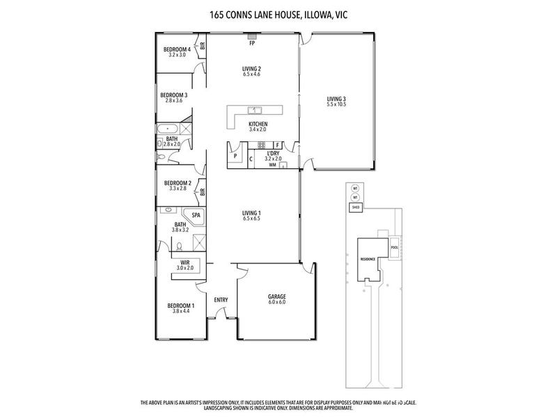 165 Conns Lane, Illowa, Vic 3282 - floorplan