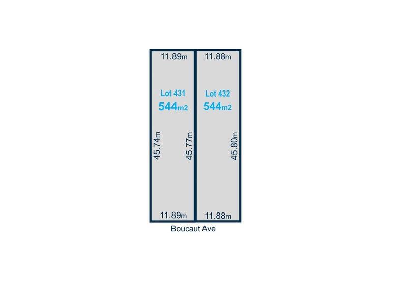 Lot 431 & 432 Boucat Avenue, Klemzig, SA 5087
