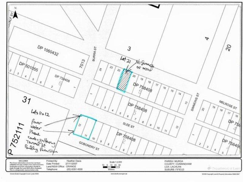 Lots 11 & 12 Slee Street, Fifield, NSW 2875