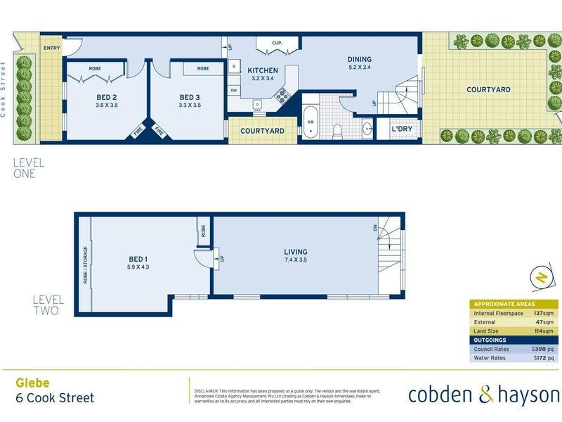 6 Cook Street, Glebe, NSW 2037 - floorplan