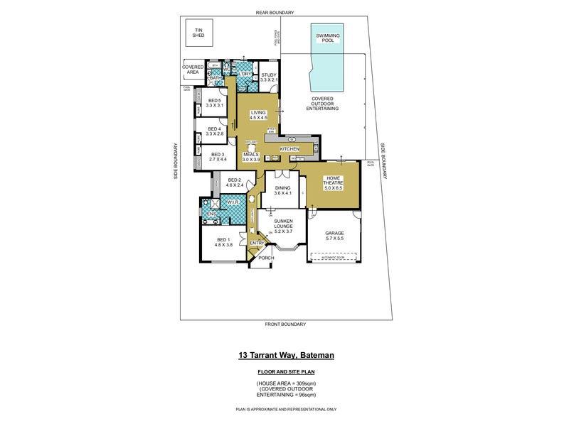 13 Tarrant Way, Bateman, WA 6150 - floorplan